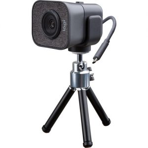 camara-web-2-microfonos-con-orientación-frontal-StreamCam Plus - GRAPHITE